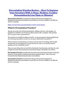 Marketing Presentation Warrior Review and Premium $14,700 Bonus