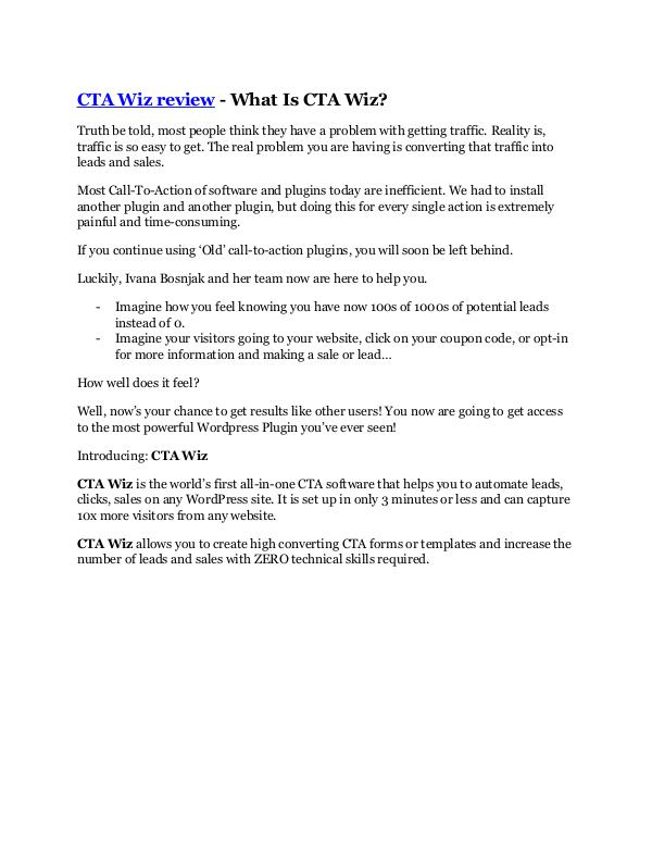 Marketing CTA Wiz review demo and premium bonus