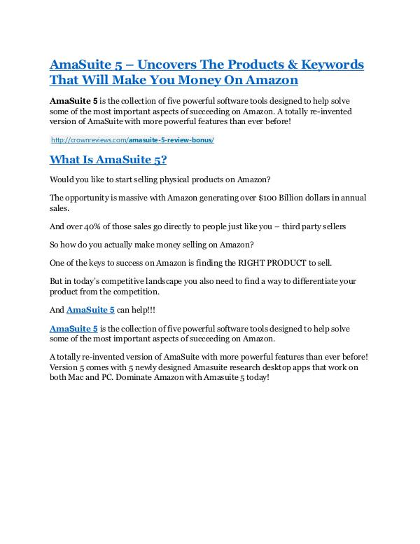Marketing AmaSuite 5 Review & (BIGGEST) jaw-drop bonuses