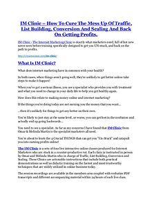 IM Clinic review and MEGA $38,000 Bonus - 80% Discount