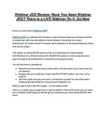 Webinar JEO review & bonus - I was Shocked!