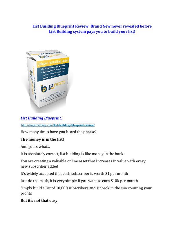 List Building Blueprint review in detail – List Building Blueprint Massive bonus List Building Blueprint Reviews and Bonuses-- List Building Blueprint