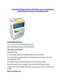 List Building Blueprint review in detail – List Building Blueprint Massive bonus List Building Blueprint Reviews and Bonuses-- List Building Blueprint