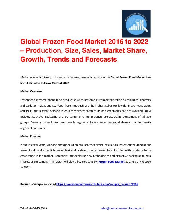 Shrink Sleeve Labels Market 2016 market Share, Regional Analysis and Global Frozen Food Market Based On