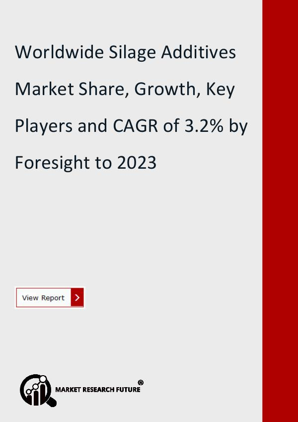 Market Research Future (Food and Beverages) Silage Additives Market Research Report- Forecast