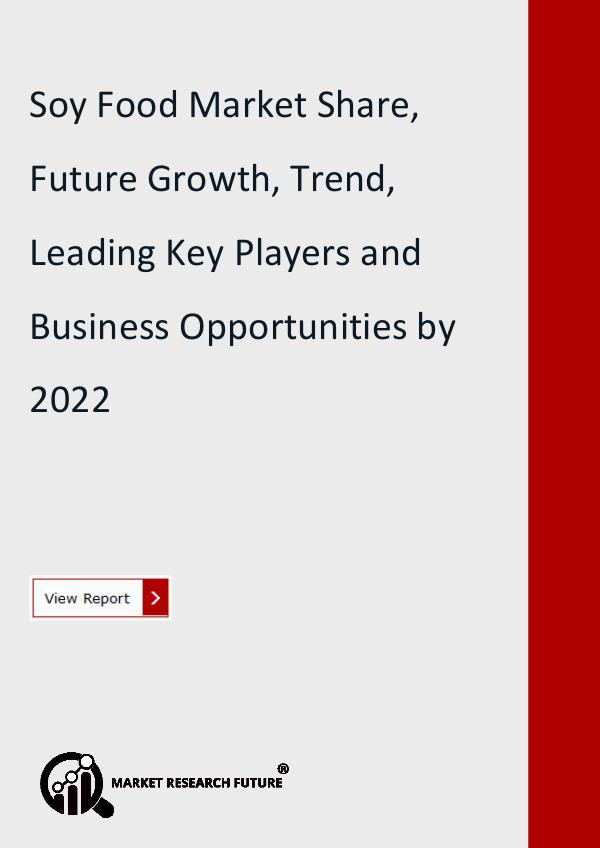 Market Research Future (Food and Beverages) Soy Food Market Share, Future Growth