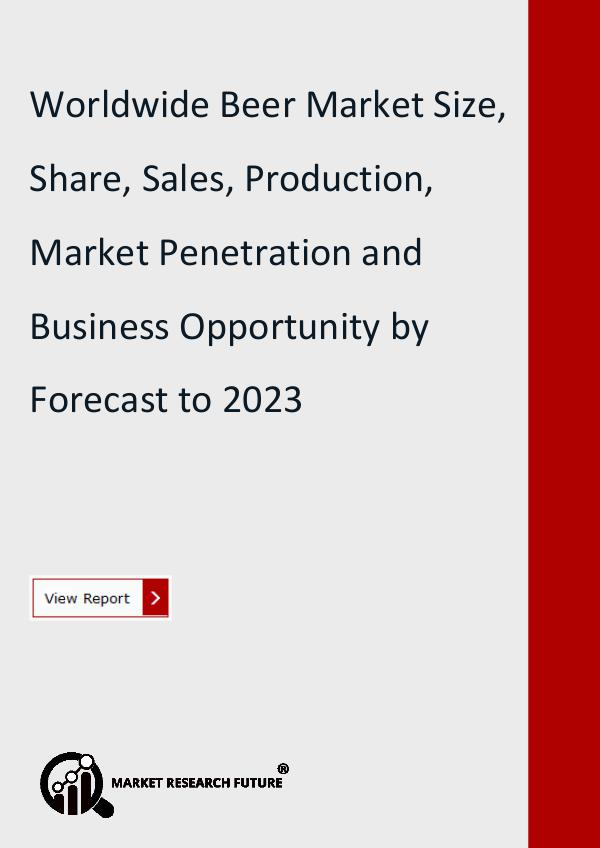 Market Research Future (Food and Beverages) Worldwide Beer Market Size, Share, Sales