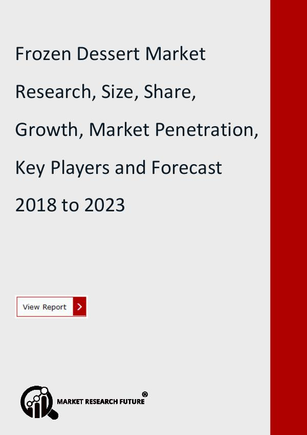 Market Research Future (Food and Beverages) Frozen Dessert Market Research Report