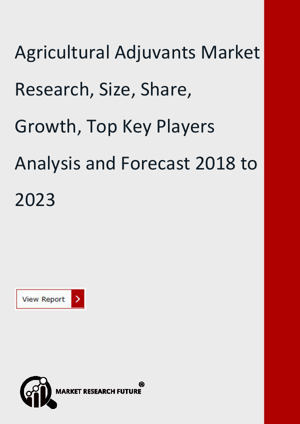 Market Research Future (Food and Beverages) Agricultural Adjuvants Market Research, Size