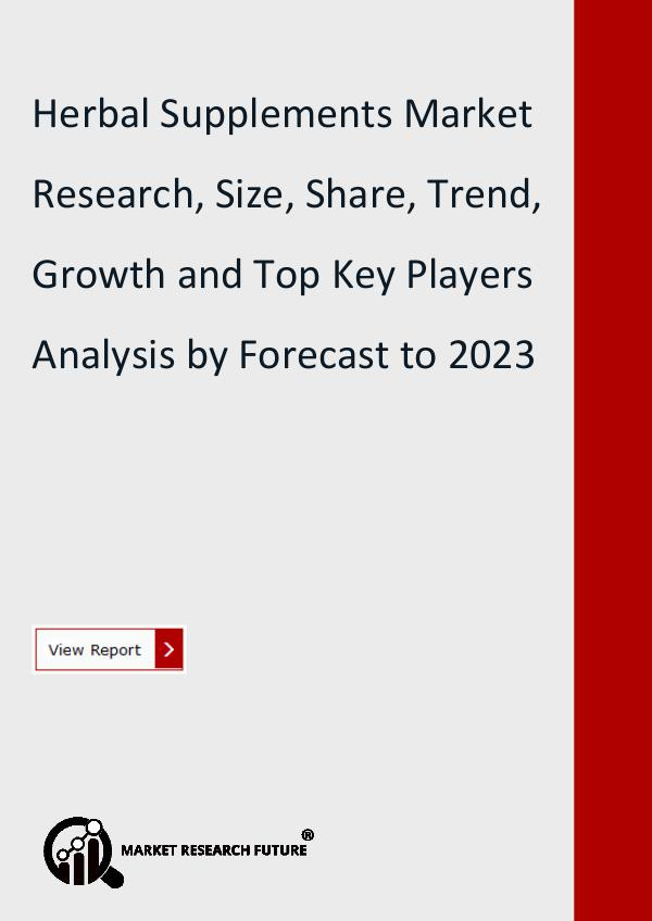 Market Research Future (Food and Beverages) Herbal Supplements Market Research Report