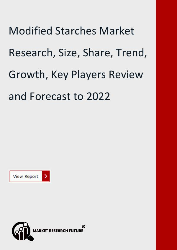 Market Research Future (Food and Beverages) Modified Starches Market Research, Size, Share