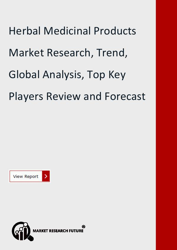 Market Research Future (Food and Beverages) Herbal Medicinal Products Market Research, Trend