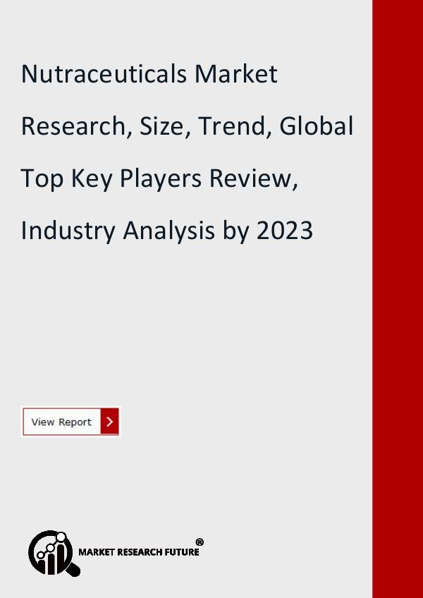 Market Research Future (Food and Beverages) Nutraceuticals Market Research Report