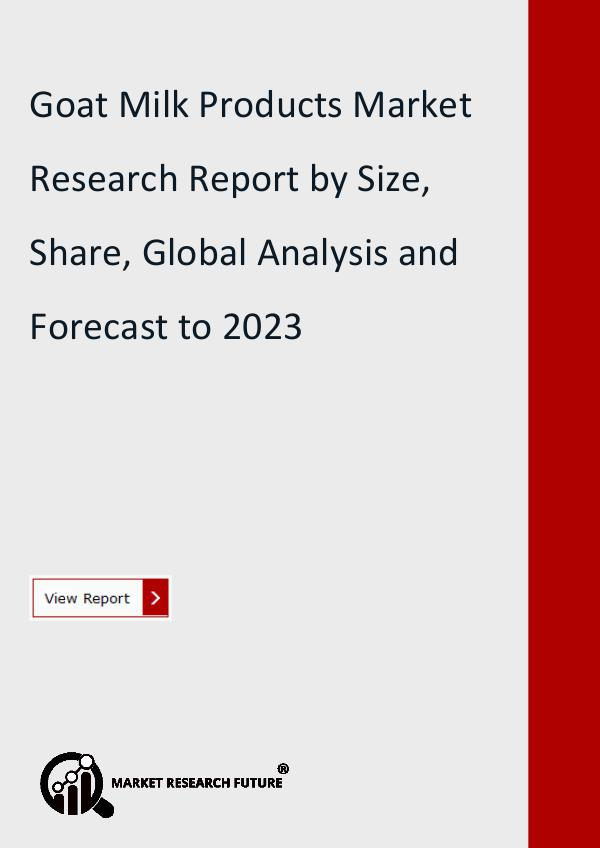 Market Research Future (Food and Beverages) Goat Milk Products Market Research Report