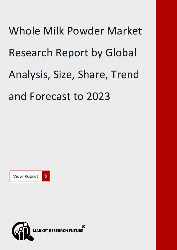 Market Research Future (Food and Beverages) Whole Milk Powder Market Research Report