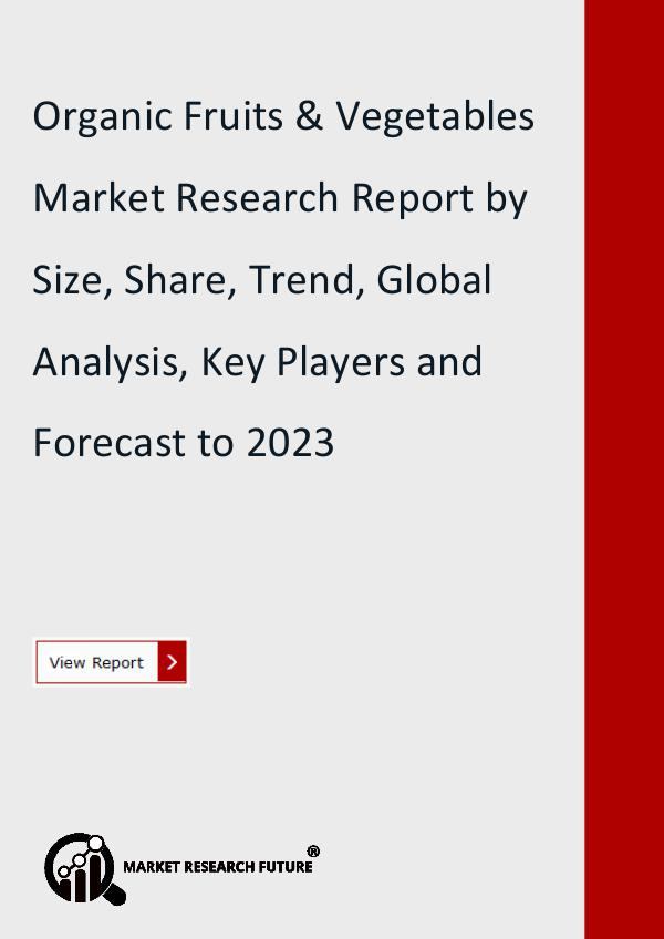 Market Research Future (Food and Beverages) Organic Fruits & Vegetables Market Research Report