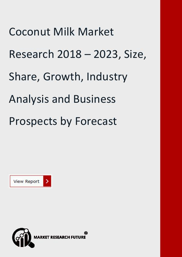 Market Research Future (Food and Beverages) Coconut Milk Market Size, Competitors Strategy