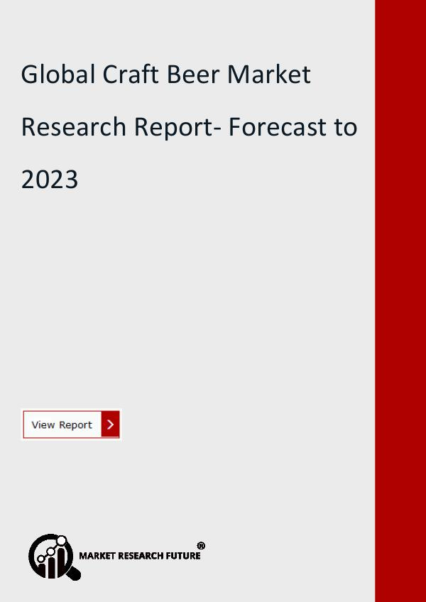 Market Research Future (Food and Beverages) Craft Beer Market has come on strongly in the last