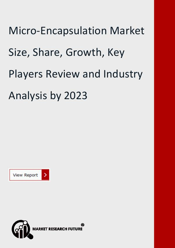Market Research Future (Food and Beverages) Microencapsulation Market Research Report