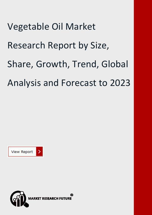 Vegetable Oil Market Global Insights, Size, Share
