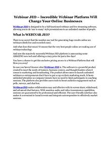 Webinar JEO review & bonus - I was Shocked!