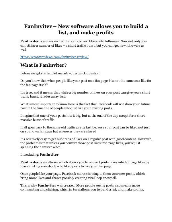 FanInviter Review & (Secret) $22,300 bonus NOW FanInviter REVIEW and GIANT $21600 bonuses