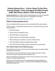 Easiest System Ever review & (GIANT) $24,700 bonus NOW