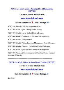 ACCT 434 Course Great Wisdom / tutorialrank.com