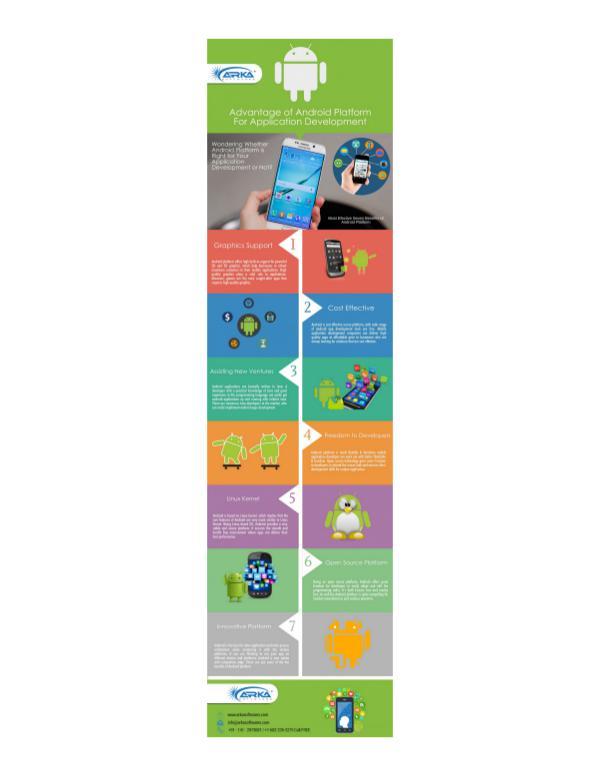 Advantages of Android Platform for Mobile App Development Advantages of Android Platform for Mobile App