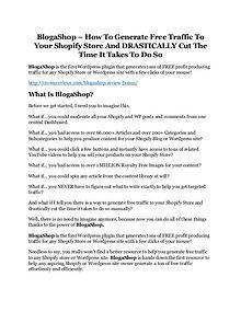 BlogaShop Review demo - $22,700 bonus
