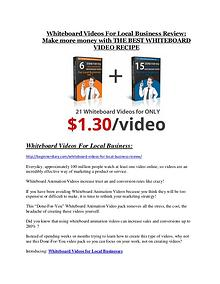Whiteboard Videos For Local Business Review-TRUST about Whiteboard Videos For Local Business and 80% discount Whiteboard Videos For Local Business review-(MEGA) $23,500 bonus of Whiteboard Videos For Local Business