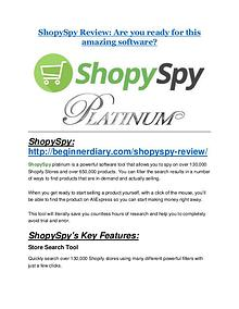 ShopySpy Review-$9700 Bonus & 80% Discount