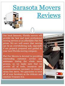 Moving To Sarasota FL