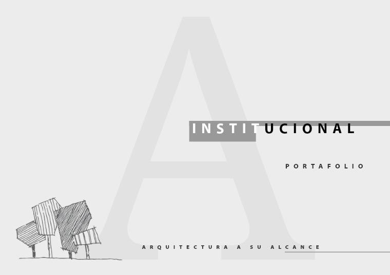 PORTAFOLIO institucional arquitectura volumen 1