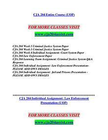CJA 204 ASSIST Redefine the Possible/cja204assist.com