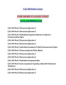 CJA 304 EDU Redefine the Possible/cja304edu.com