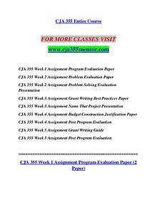 CJA 355 MENTOR Redefine the Possible/cja355mentor.com
