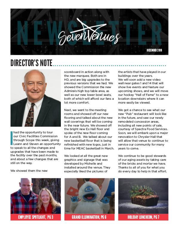 SevenVenues Dec 2018 SevenVenues_Newsletter-December2018