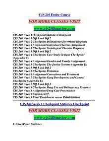 CJS 240 MASTER Possible Everything/cjs240master.com