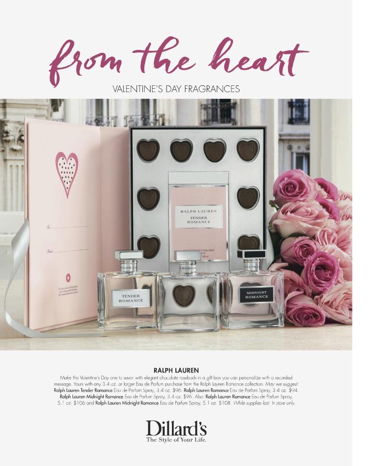 Dillard's Catalogs Valentine's Day fragrance gifts