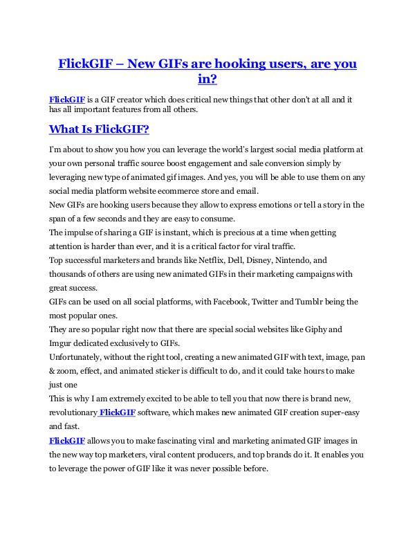 FlickGIF Review & (Secret) $22,300 bonus FlickGIF review & (GIANT) $24,700 bonus