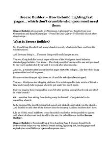 Breeze Builder review & huge +100 bonus items
