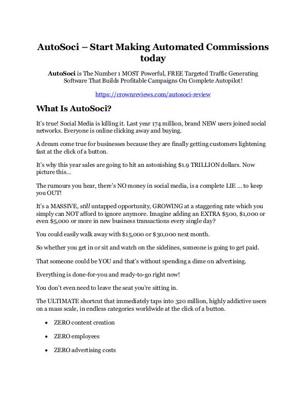 AutoSoci review & (GIANT) $24,700 bonus NOW AutoSoci Review 2