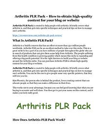 Arthritis PLR Pack Review - MASSIVE $23,800 BONUSES NOW!