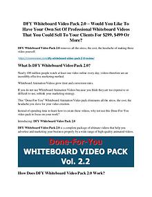 DFY Whiteboard Video Pack 2.0 review - I was shocked!