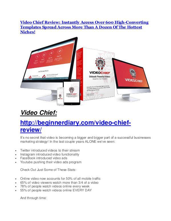 Video Chief review- Video Chief (MEGA) $21,400 bonus Video Chief review-$16,400 Bonuses & 70% Discount