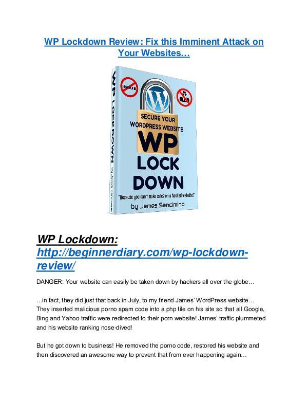 WP Lockdown review & bonuses - cool weapon WP Lockdown Review and $30000 Bonus - WP Lockdown 80% DISCOUNT
