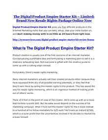 Markeitng Digital Product Empire Starter Kit Review and (Free) GIANT $14,600 BONUS