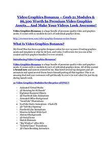 Markeitng Video Graphics Bonanza review in detail and (FREE) $21400 bonus