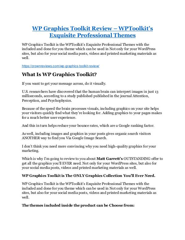 Markeitng WP Graphics Toolkit review-(MEGA) $23,500 bonus of